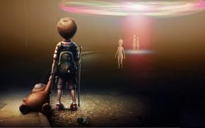 Picture Boy, Others, Bear, Aliens, Three, Aliens, Aliens, Жуткие