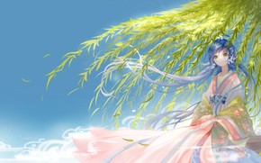Picture girl, branch, Vocaloid, Vocaloid, IVA, Luo Tianyi