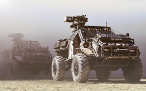 Picture Auto, Dust, Machine, SUV, Rendering, Concept Art, Weapons, Transport, War Machine, Transport & Vehicles, URBAN …