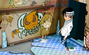 Picture look, anime, guy, Soul eater, Soul Eater, Kid, Death the Kid