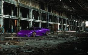 Picture Auto, Lamborghini, Machine, Car, Purple, Car, Render, Diablo, Rendering, Sports car, The room, Lamborghini Diablo, …
