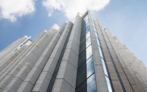 Picture the sky, the building, bottom view, Leonardo Rodriguez