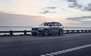 Picture sunset, the evening, Volvo, XC90, crossover, R-Design, Twin Engine, 2019, T8