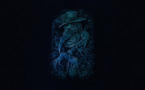 Picture Minimalism, Dr., Death, Mask, Art, Plague, The plague doctor, by Anna Ezer, Anna Thousand, Plague …