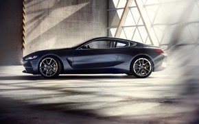 Picture rays, light, coupe, BMW, profile, 2017, 8-Series Concept