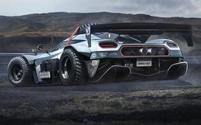 Picture Concept, track, concept, power, Koenigsegg, SUV, the concept, power, track, computer graphics, Off Road, computer …
