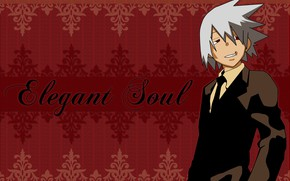 Picture guy, Soul eater, red background, Soul Eater