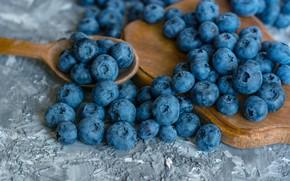 Picture tree, spoon, blueberries, agodi, berries, lahina