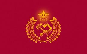 Picture Minimalism, Star, Style, Background, USSR, Star, Art, Art, Mario, Style, Background, Minimalism, by Ilustrata, Illustrated, …