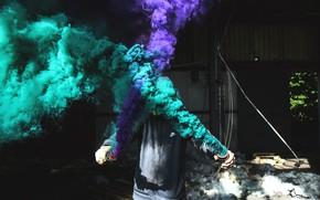 Picture smoke, guy, сигнальная звездка
