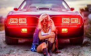 Picture machine, auto, look, girl, pose, lights, boots, glasses, Lauren, Christopher Rankin