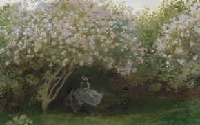 Picture Claude Monet, 1872, Lilacs, Grey Weather