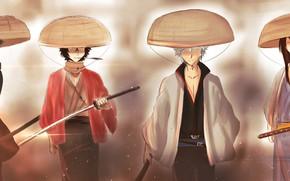 Picture guy, guys, hats, samurai, Gintama, Gintama