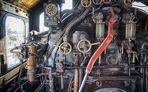 Picture old, train, locomotive, engine