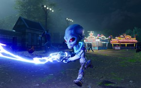 Picture house, weapons, the game, shot, game, runs, Alien, Alien, Destroy All Humans