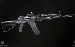 Picture rendering, weapons, gun, weapon, render, Kalashnikov, Warface, assault rifle, assault Rifle, Varfeys, Blackwood games, ak …