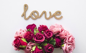 Picture love, flowers, roses, love, pink, flowers, beautiful, romantic, roses