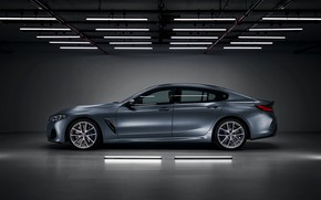 Picture background, lamp, coupe, BMW, side, Gran Coupe, 8-Series, 2019, the four-door coupe, Eight, G16
