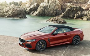 Picture rocks, BMW, convertible, the soft top, 2019, BMW M8, M8, F91, M8 Competition Convertible, M8 …