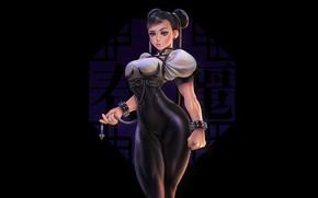 Picture Girl, Sexy, Asian, Background, Illustration, Street Fighter, Chun-Li, Minimalism, Figure, Chun li, Sarah C
