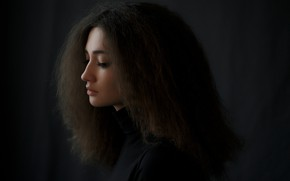 Picture look, girl, hair, portrait, curls, Paul Cherepko