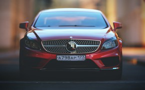 Picture Mercedes-Benz, Red, Auto, Machine, Mercedes, Red, Car, Render, Rendering, Rendering, The front, Transport & Vehicles, …