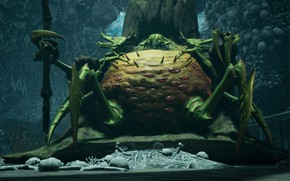 Picture monster, bones, insect, Darksiders III