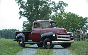 Picture 150, pickup, GMC, 1949, the fence, Pickup Truck, GMC 150
