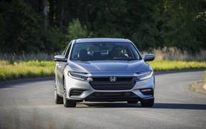 Picture Honda, sedan, front view, Hybrid, Insight, hybrid, Touring, four-door, 2019