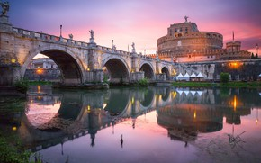 Picture sunset, structure, bridge