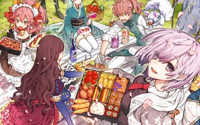 Picture food, picnic, Fate / Grand Order, The destiny of a great campaign