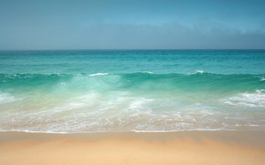 Picture sand, the sky, water, the ocean, shore, wave, horizon