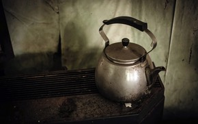 Picture background, kettle, naturalism