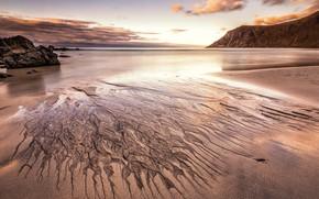 Picture sand, sea, beach, the sky, clouds, landscape, mountains, nature, stones, rocks, pattern, shore, divorce, the …