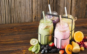 Picture raspberry, orange, kiwi, strawberry, banks, fruit, banana, apricot, currants, BlackBerry, blueberries, juices, spinach