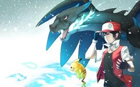Picture guy, Pikachu, Pokemon, Pokemon, Charizard