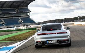 Picture coupe, track, 911, Porsche, Carrera 4S, 992, 2019, slowing