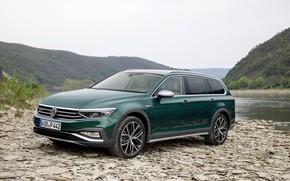 Picture shore, Volkswagen, universal, Passat, dark green, Alltrack, 2019