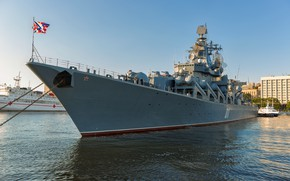 Picture pier, cruiser, Vladivostok, the flagship, the Vikings, pacific ocean fleet