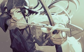 Picture bow, girl, Golden Kamuy, Asirpa