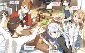 Picture table, friends, characters, Imouto sae Ireba Ii