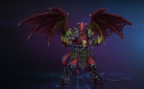 Picture WOW, Fantasy, Blizzard, Art, WarCraft, Demon, Characters, Game Art, Demon Lord, by Kazbek Dzasezhev, Kazbek ...