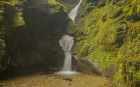 Picture rocks, waterfall, Austria
