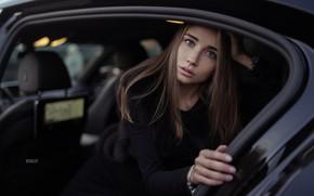 Picture machine, look, girl, pose, Hair, Artem Kovalev
