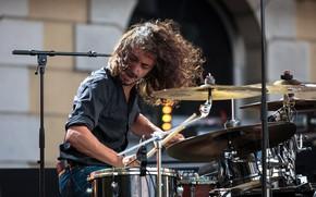 Wallpaper music, drummer, shock