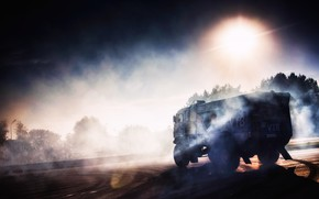 Picture The sun, Auto, Smoke, Sport, Machine, Truck, Asphalt, Master, Skid, Russia, Kamaz, Rally, Dakar, KAMAZ-master, …
