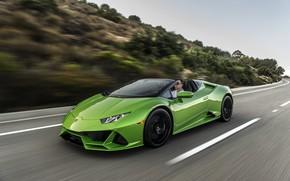 Picture speed, Lamborghini, Spyder, Evo, Huracan, 2019, Huracan Evo, North America version