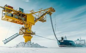 Wallpaper ship, North, mining