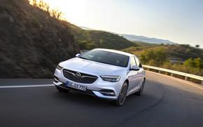 Picture road, white, Insignia, Opel, Insignia Grand Sport