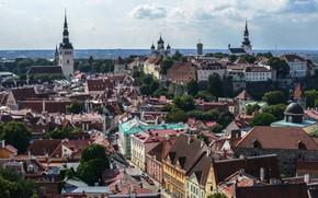 Picture the sky, building, Estonia, Tallinn